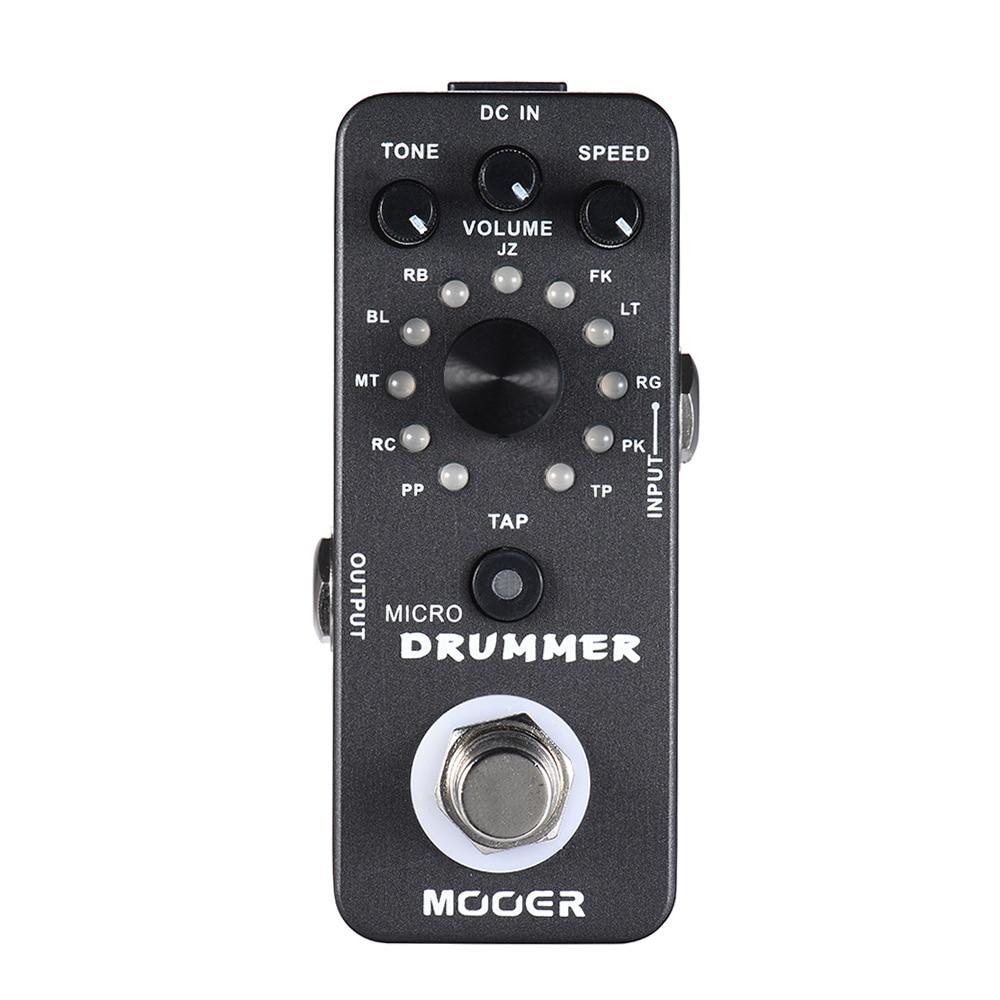 Mooer Mdm1 Micro Drummer Effector Drum Machine for Electric Guitar Pedalboard Guitar Pedal Board Guitarra Sporting 121 Drumbeats enlarge