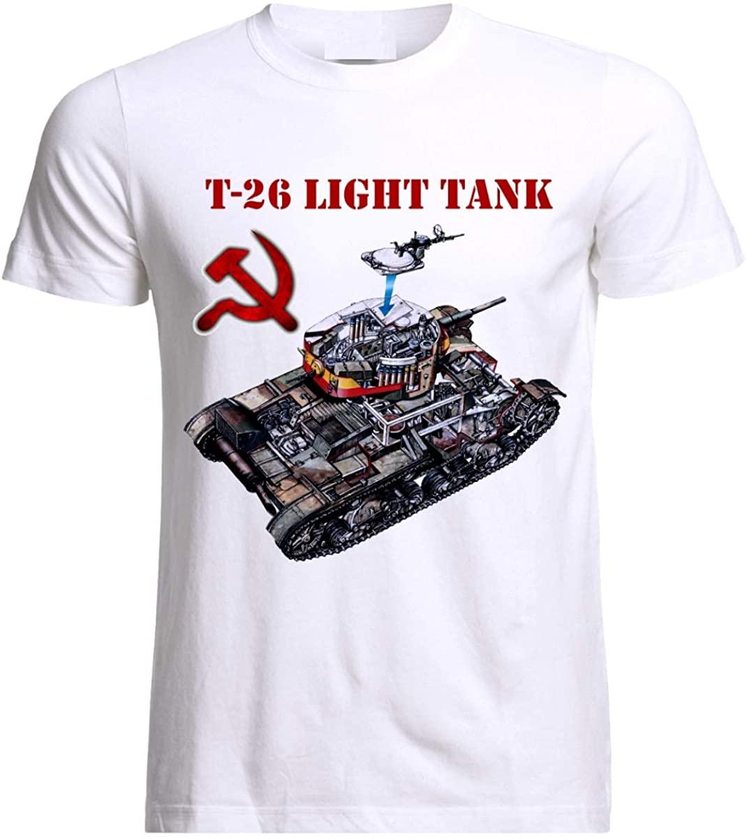 USSR Russian T-26 Tank T-Shirt Panzer Armure The Second World War Army Cotton O-Neck Short Sleeve Men's T Shirt New Size S-3XL