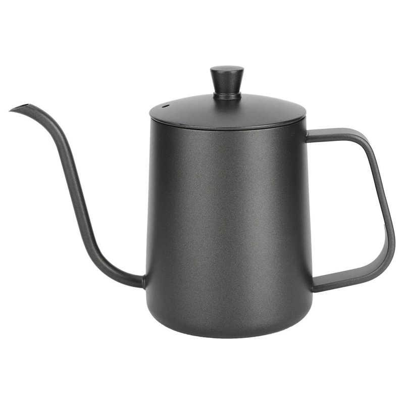 600 مللي صب فوق إبريق قهوة 304 الفولاذ المقاوم للصدأ ضيق الفم صانع القهوة بالتنقيط القهوة مستلزمات قهوة