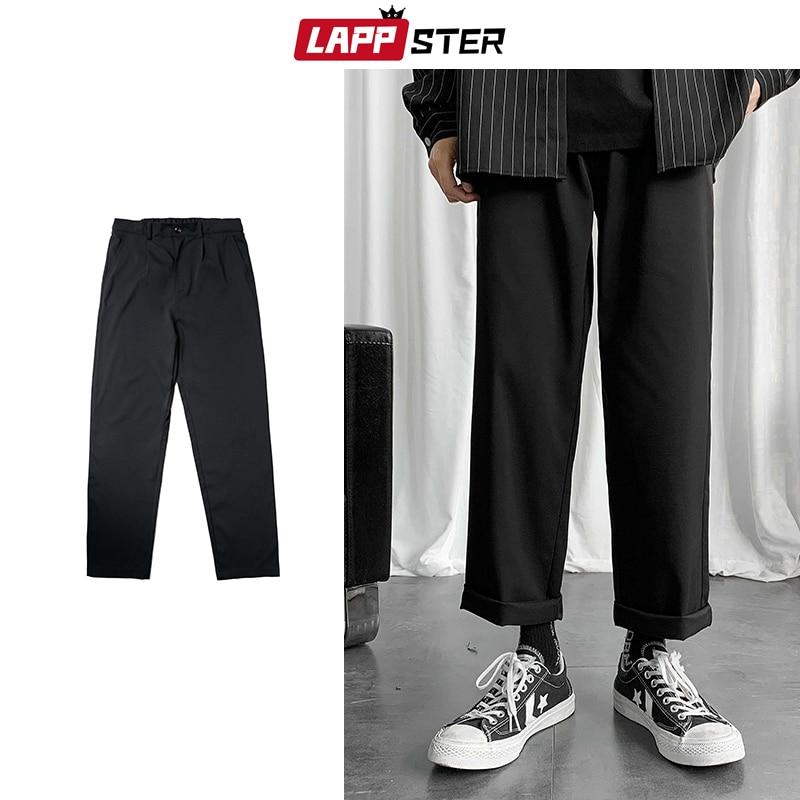 LAPPSTER hommes noir coréen sarouel 2020 été Harajuku ample Joggers pantalons de survêtement Hip Hop pantalon décontracté coupe large grande taille 5XL