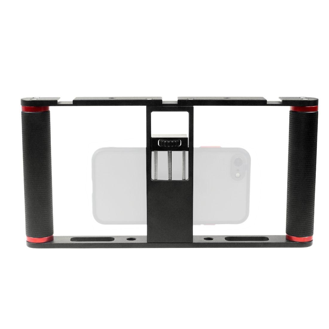 Liga de Alumínio Equipamento de Vídeo Montagens de Sapato Suporte de Montagem U-rig Smartphone Filmmaking Case Handheld Telefone Vídeo Estabilizador Aperto Tripé w 3