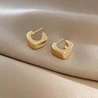2021 classic hot sale earring for girls european trendy wedding gold geometric stud earrings jewelry