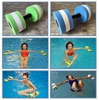 2pc eva water aquatics aerobics dumbbell weights swimming fitness pool exercise workout medium aquatic barbell fitness training