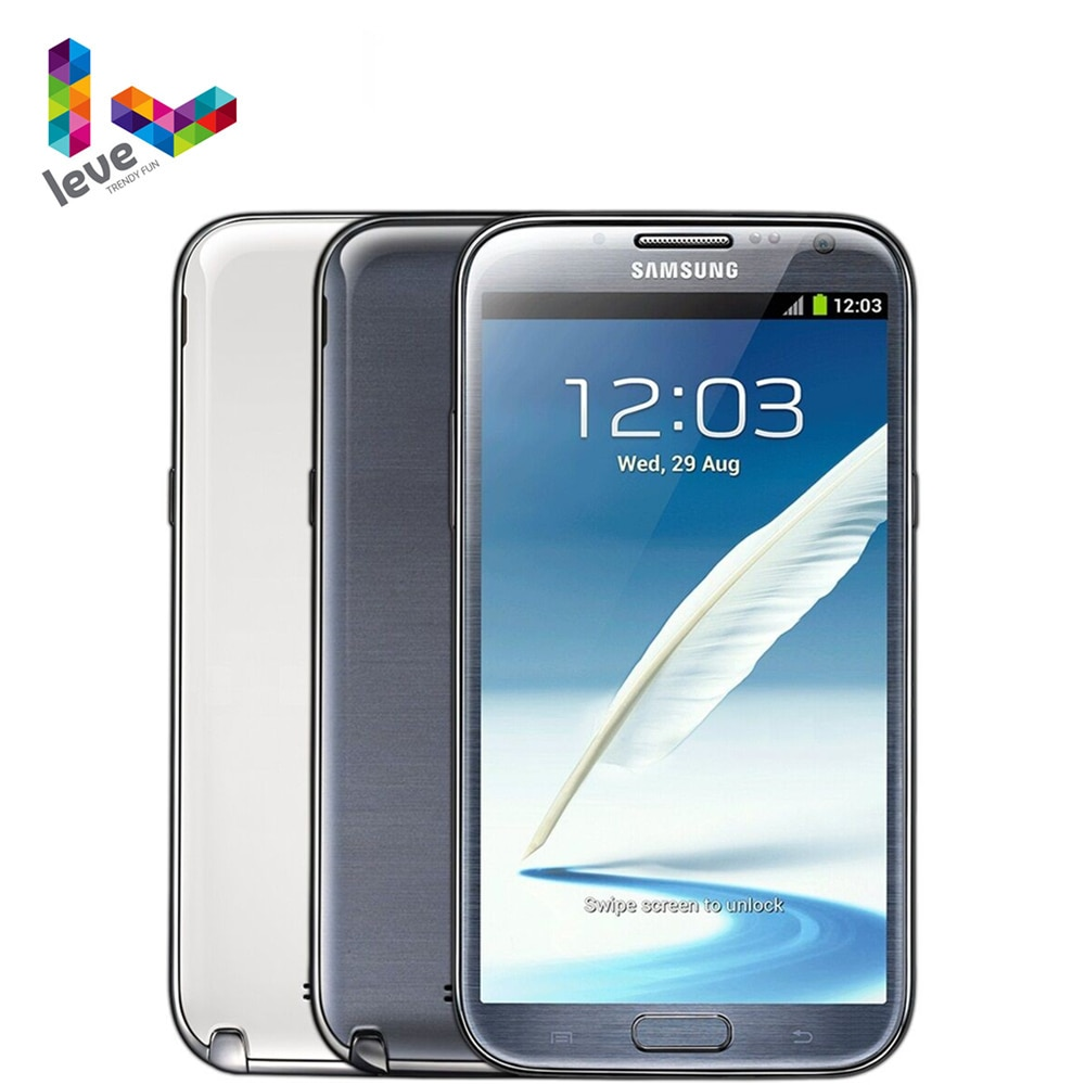 Samsung Galaxy Note II N7100 Unlocked Mobile Phone 2GB RAM 16GB ROM Quad Core 5.5'' 8MP 3G WCDMA Original Android Smartphone