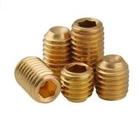 brass hexagon socket concave end set screws with cup point grub headless socket head screw bolts m3 m4 m5 m6 m8 m10