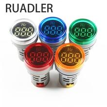 Affichage numérique électricité Hertz mètre fréquence compteur indicateur lumière AC mètre rouge Combo testeur 0-99Hz vert blanc jaune