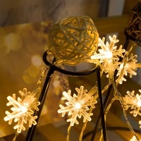 led string lights christmas tree snowflake shape small lanterns festive warm lighting battery usb indoor wedding decoration