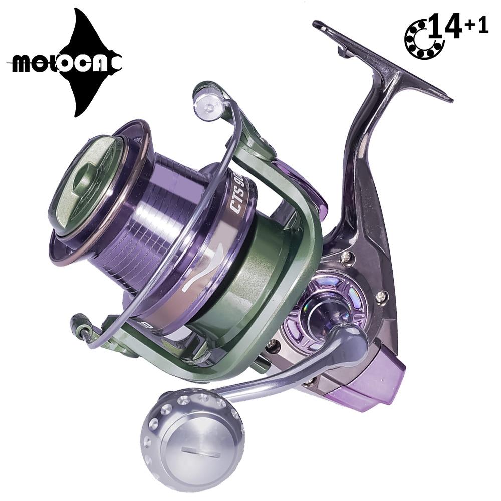 Carrete De Pesca giratorio De Metal 14 + 1BB 4,0: 1, arrastre...