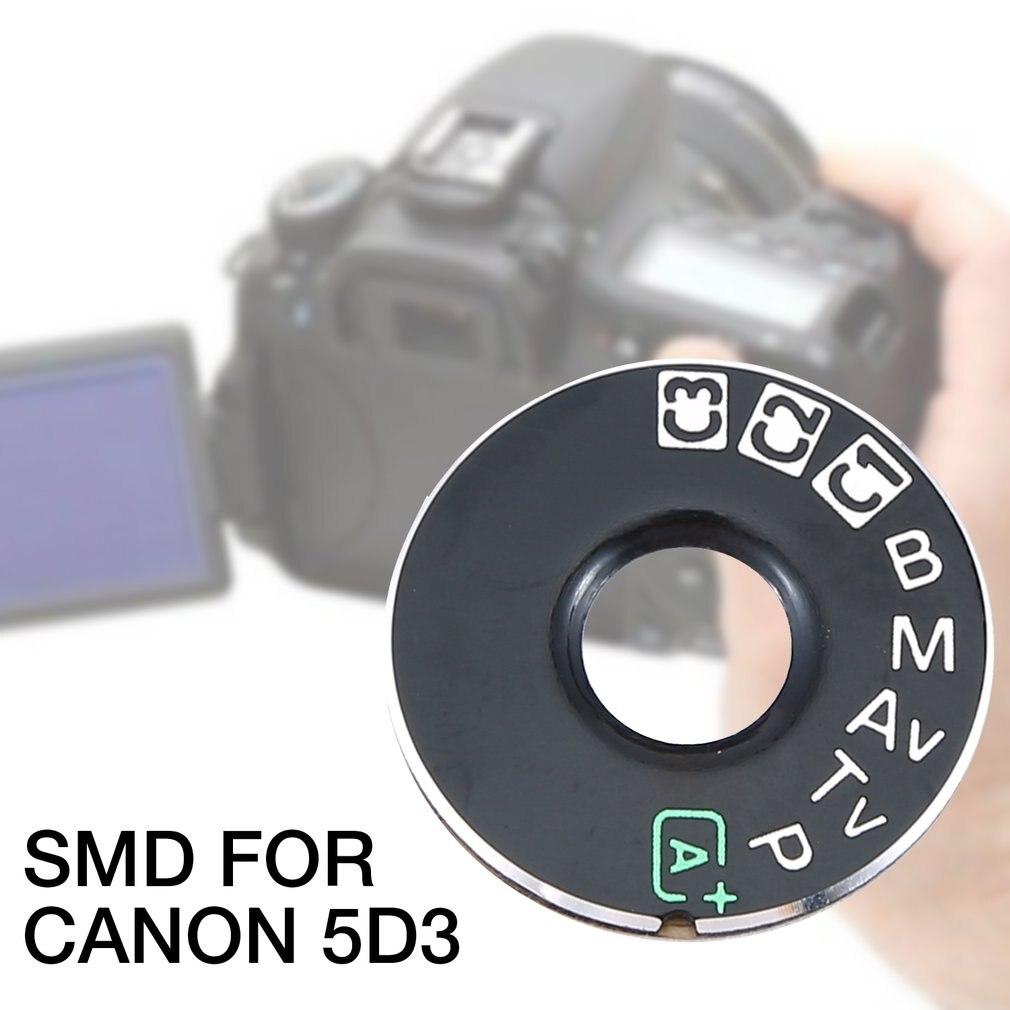 Parche de cámara para cámara Canon 5D3 reemplazo para Canon modo dial pad Placa de parche placa de identificación Cámara reparación piezas