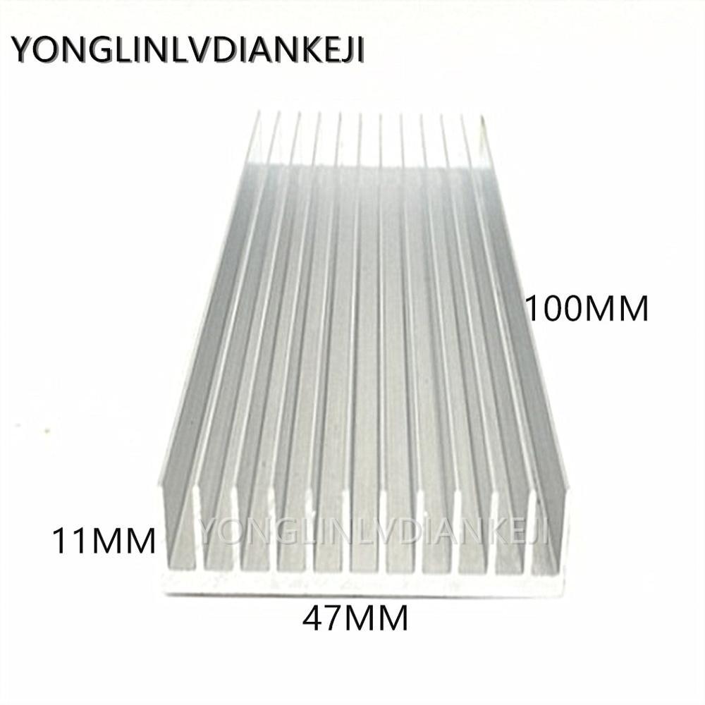 Фото - 2 шт. радиатор/алюминиевый радиатор 47x11-100 мм/IC Радиатор/длинный плавник/радиатор памяти радиатор