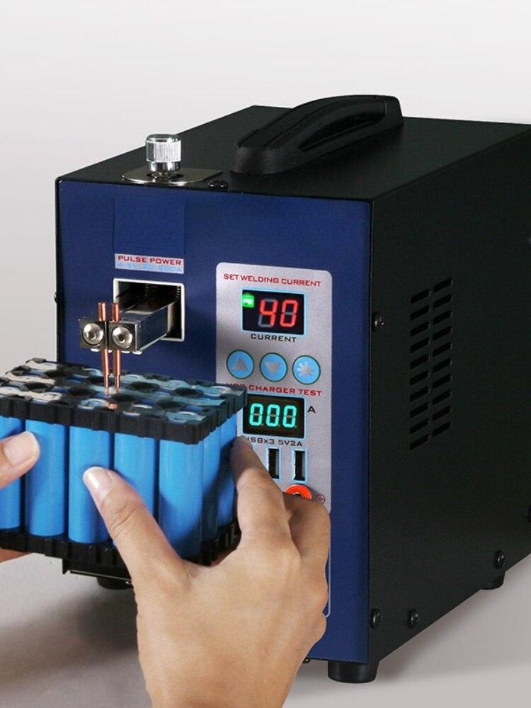 for 737U Digital Display Double pulse Spot Welder LED illumination USB charging Handheld Welding Machine for 18650 battery enlarge