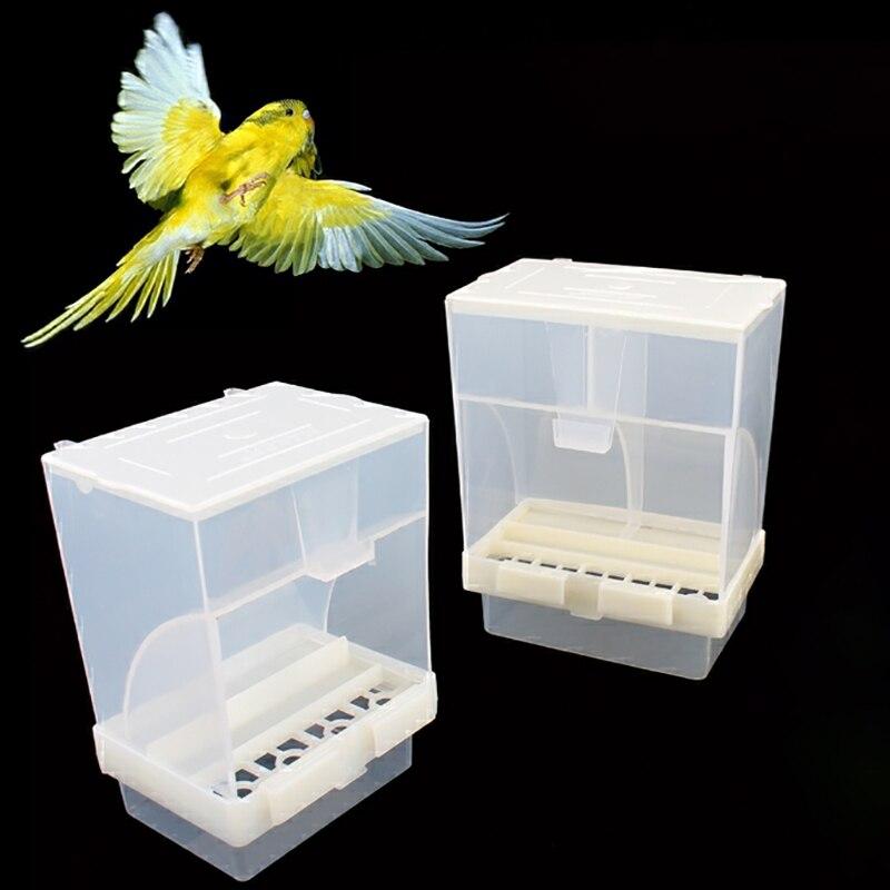 Caixa de alimentação automática starling tiger pele peônia aves gaiola acessórios de gaiola alimentador de pássaro automático sem bagunça