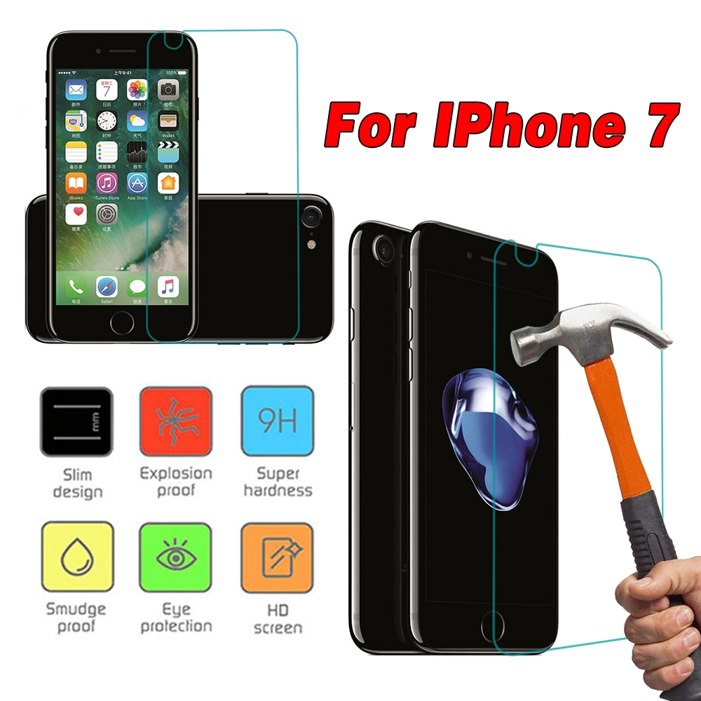 Tempered Glass Film Screen Cover Filter For iPhone 7 Ultra-Silm Anti-Scratch Mobilephone Protection