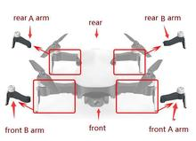 CFLY C-FLY fe JJRC X12 recambios de cuadrirrotor RC brazo con motor/tren de aterrizaje