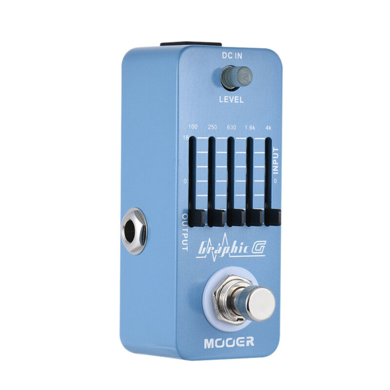 Mooer Graphic G 5-Band  Effect Pedal True Bypass MEQ1 for Electric Guitar Effect Pedal Reverb Guitar Graphic EQ Guitar Equalizer enlarge