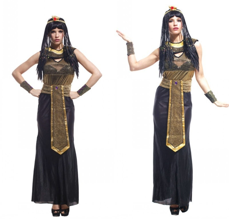 Disfraz de reina de Egpytain para adulto, Disfraz de Halloween, vestido de...