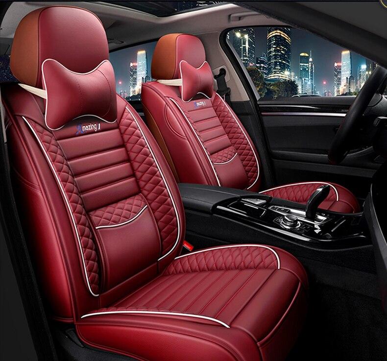 Capa de assento do carro universal conjunto completo couro para o automóvel alfa romeo 159 147 guilietta boxer brera spiden produtos automóveis acessórios