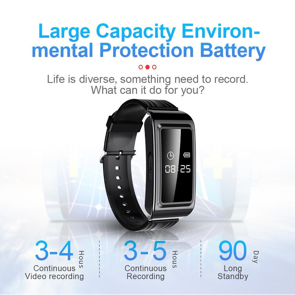 Smart Watch Mini Camera HD 1080P Camcorder Video Recording Bracelet Camera Mini Camera Wristband Wearable Device 2021 NEW enlarge