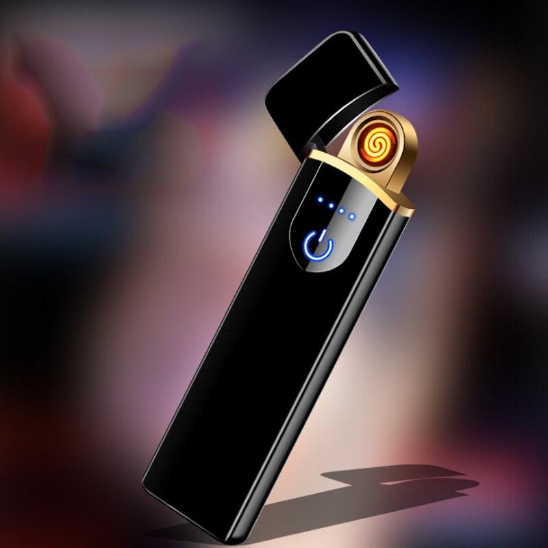 Miniencendedor portátil de carga Usb, Sensor táctil, doble cara, creativo, resistente al...