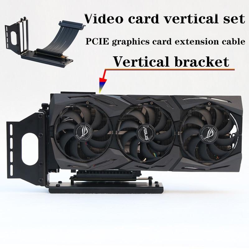 كابل رسومات PCI- E 3.0 16X ، حامل عمودي/قاعدة ATX ، موصل مرن ، محول منفذ تمديد GPU