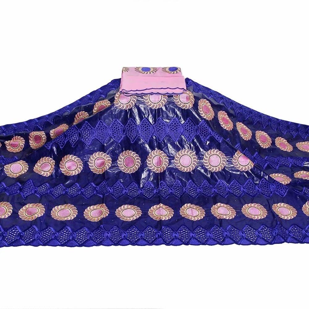 Tela africana Bazin riche tela tissu Africana algodón Bazin bordado riche con piedras africano tela de encaje para vestido