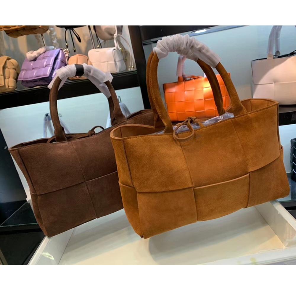 Fashion Suede Messenger Bags Luxury Handbags Women Designer Purses Lady Shoulder Bag Knitting Crossbody Female Bag High Quality