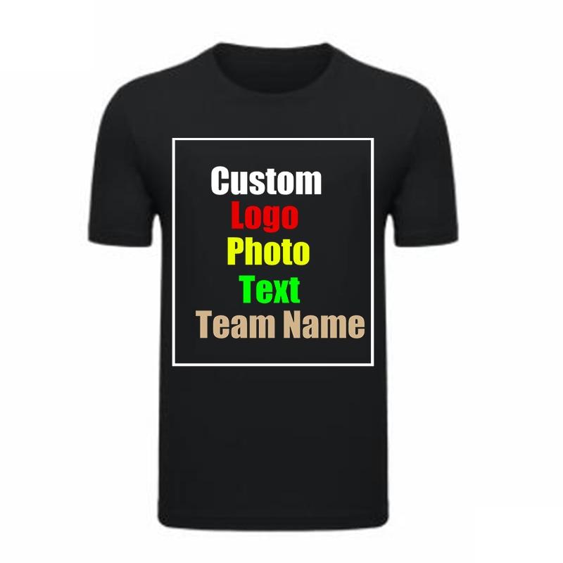 t shirt diy Customized Print T Shirt Summer Black Art Shirt DIY Photo Logo Brand Lover Shirt Top Tees T-shirt Modal Soft Men's Shirt