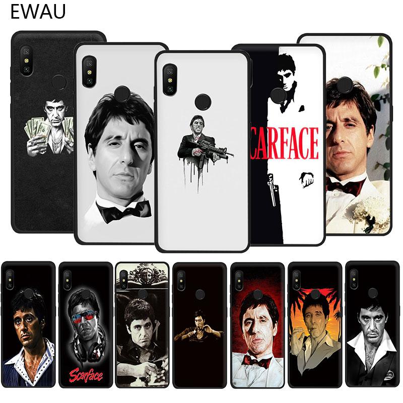 EWAU Scarface Tony Montana Soft TPU phone cover case for Xiaomi Redmi Note 4 4X 5 6 7 8 Pro 5A Prime