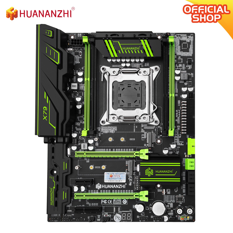 HUANANZHI X79 GREEN 2.49 X79 motherboard LGA2011 ATX USB3.0 SATA3 PCI-E NVME M.2 SSD support REG ECC memory and Xeon E5