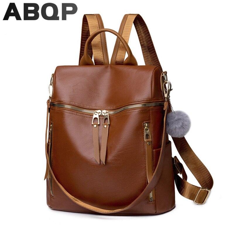 рюкзак женский Кожаный рюкзак ABQP рюкзак женский кожаный для женщин, рюкзак школьный роскошные женские дорожные сумки с защитой от кражи, шк...