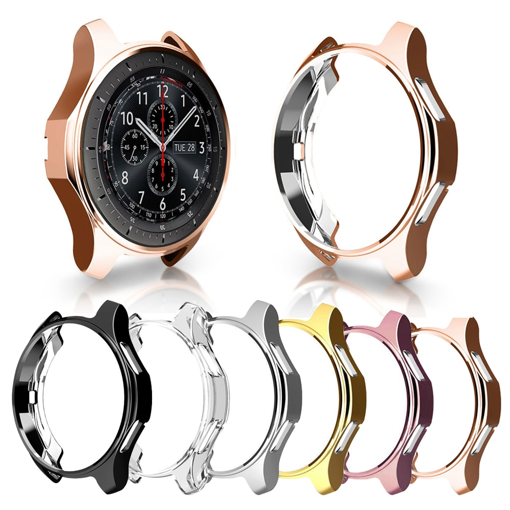 Ultra Slim Protector Case for Samsung Galaxy 42 MM / 46MM Slim Soft Hollow out Watch Cover for Gear