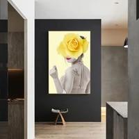 Affiches et imprimes de peinture murale  peintures sur toile dart  maquillage  images de filles a la mode pour salon  decoration de la maison