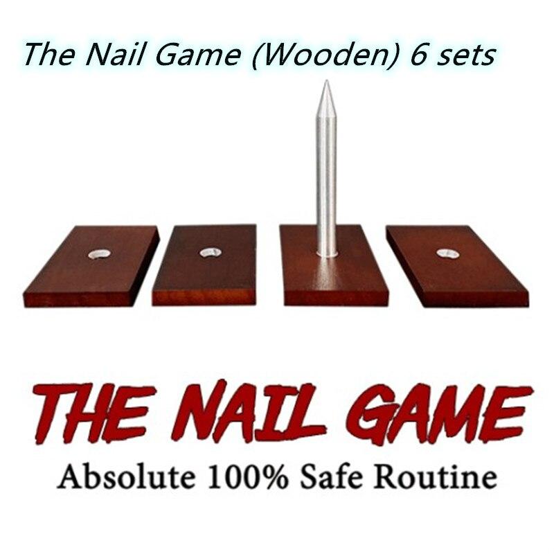 لعبة الأظافر (خشبية) 6 مجموعات من الخدع السحرية ، كيس ورقي للحيل السحرية ، ملحقات مانيكير ، عجلة أظافر آمنة 100%