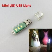 ¡Oferta! Mini lámpara led dispositivo informático USB 3x5730smd led para ordenador portátil cargador móvil luz blanca