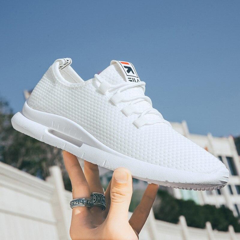 Scarpe da uomo Sneakers bianche Air Mesh 2021 primavera autunno Casual uomo Sneaker scarpe da passeggio Low Top uomo Casual vulcanizza scarpe Tenis