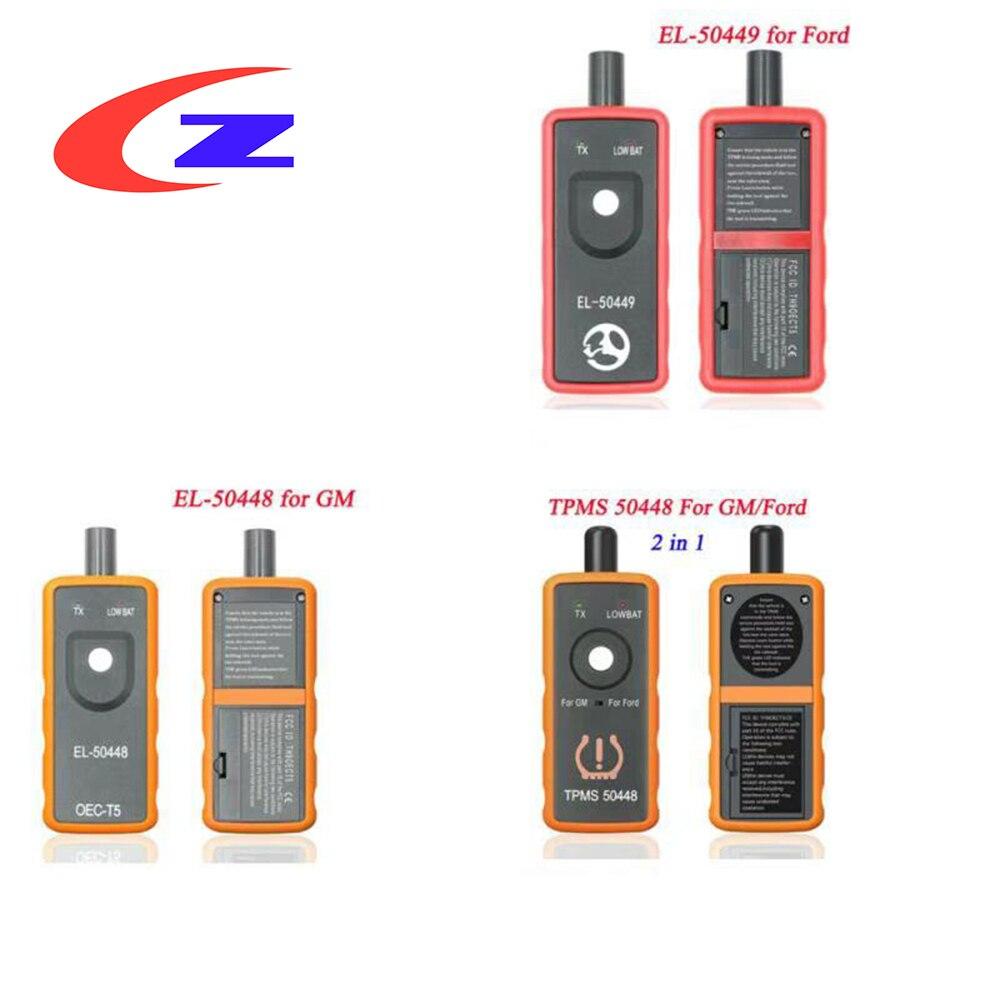 EL-50449 EL50449 TPMS لفورد EL 50448 EL-50448 ل GM مراقبة ضغط الإطارات الاستشعار تفعيل أداة + OEC-T5 TPMS أداة الماسح الضوئي