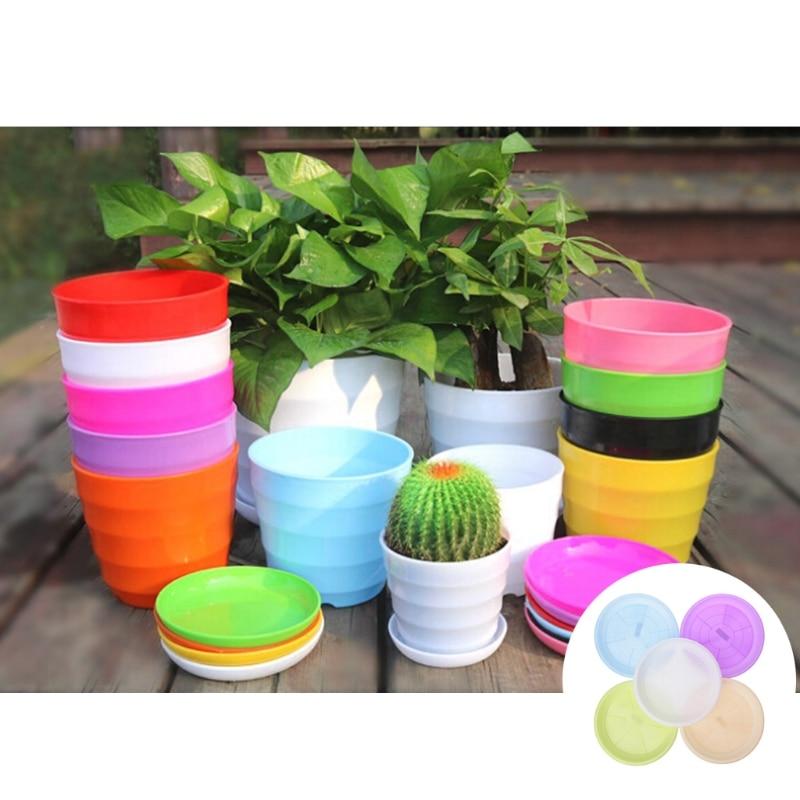 Round Heavy Duty Plastic Flower Plant Pot Saucer Base Water Tray Garden 4 Size