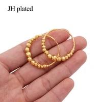 earings 24k gold color big round hoop earrings pircing gold earrings piercings accesories for womengirls ornament jewelry gifts