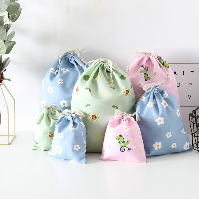 Bolsa de compra de alimentos, bolso con cordón ecológico, bolsa para zapatos bonita, bolsa plegable reutilizable de viaje para el hogar, bolsa de ropa interior