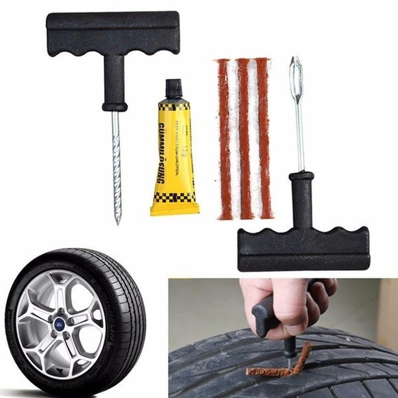 Набор инструментов для ремонта автомобильных шин набор для ремонта проколов автомобильных шин набор для ремонта игольчатый патч инструмен...
