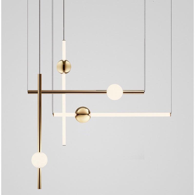 Luces con palo modernas nórdicas altillo lámpara colgante de bola de cristal...