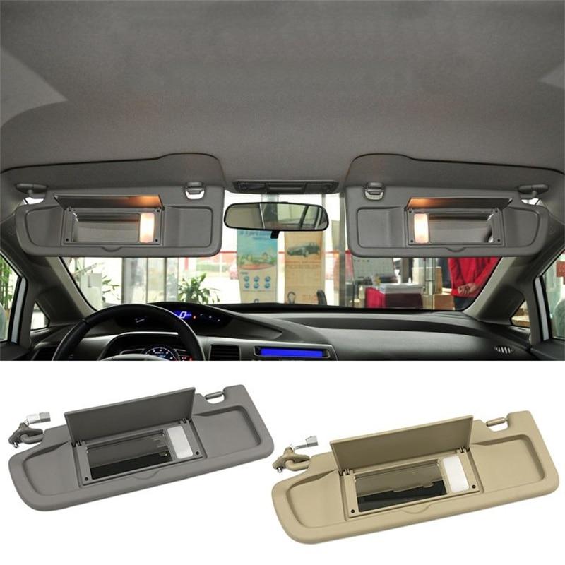 Car Side Sunvisor Sunshade Sun Shield Antidazzle Visor Without Light For Honda For Civic Coupe Sedan 2006-2011
