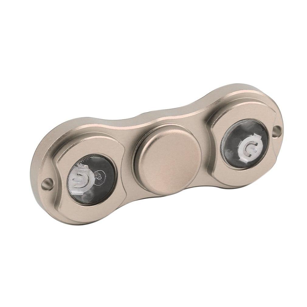 Spinner de mano LED, juguetes para los dedos, juguete de rotación de aleación de aluminio para autismo y TDAH, Spinner para reducir el estrés, regalo para adultos, niños, oro