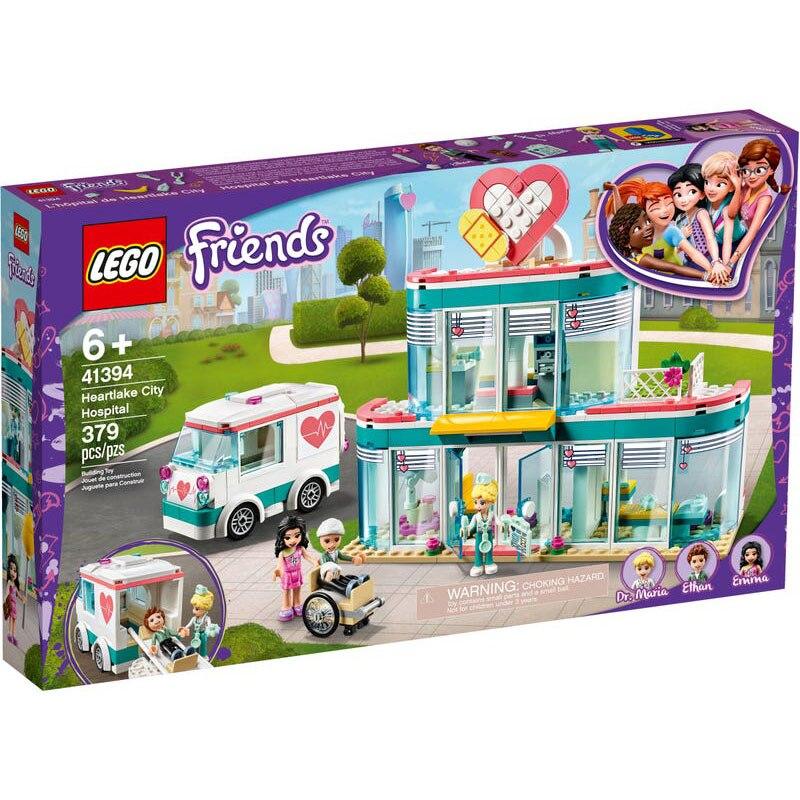 Bloques de construcción de la serie de amigos LEGC 41394, Heartlake City Hospital, Emma ethine y Dr. Maria, juguetes de regalo para niños