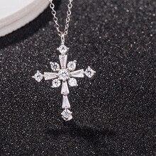 ¡Novedad! Collar de plata de ley 925 de WENDYFO para mujer, de circonita colgante con cadena de oración, collares para mujer, regalo de joyería cristiana