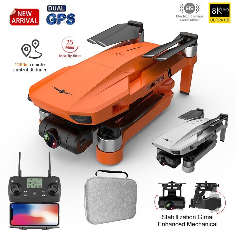 KF102 GPS Drone 4k المهنة 8K HD كاميرا 2-محور Gimbal مكافحة للاهتزاز التصوير فرش طوي Quadcopter RC المسافة 1200M