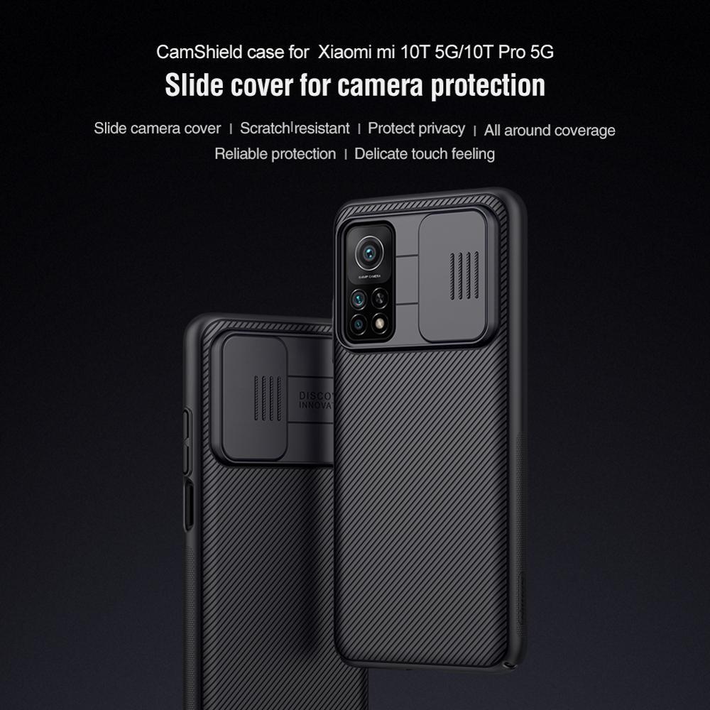 10 قطعة/الوحدة بالجملة Nillkin CamShield الحال بالنسبة ل شاومي Mi 10T 5G/10T برو 5G حافظة غطاء الشريحة للكاميرا حماية