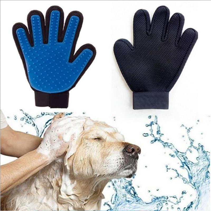 Rubber Pet Bath Mittens Grooming Glove for Pet Massage Grooming Glove Hair Remover Brush Dog Deshedd