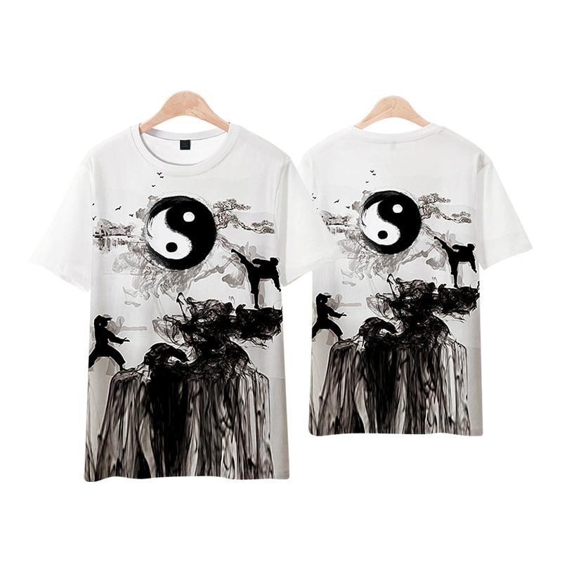 Anime Cosplay 3D Print Cartoon Yin and yang Bagua Punk Rock Casual Breathable T-Shirt Tee T Shirt Top