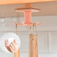 6 claw rotating storage hook kitchen gadgets accessories bath hook wall mounted 360%c2%b0 rotating coat hanger universal hook durable